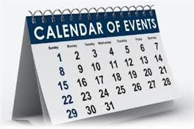 Calendar of Events- 1st Term